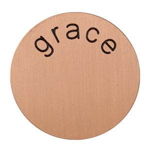 Picture of 'Grace' Medium Rose Gold Coin
